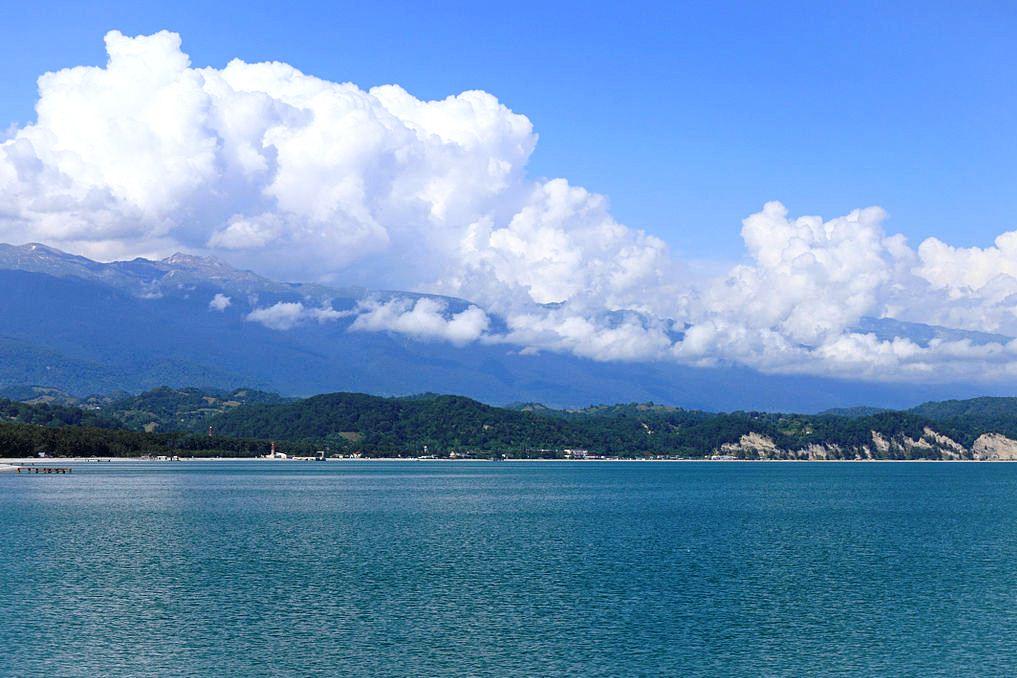 Абхазия пляжа и набережной 48