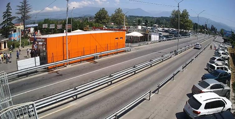 Вебкамера на границе Россия - Абхазия. Въезд в Абхазию