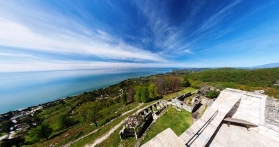 Виртуальная 3D панорама. Анакопийская крепость (Абхазия)