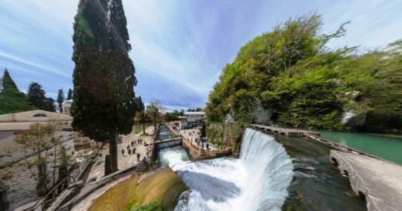 Виртуальная 3D панорама. Водопад на реке Псырцха (Новый Афон)
