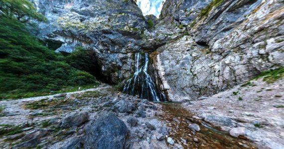 Виртуальная 3D панорама. Гегский водопад (Абхазия)