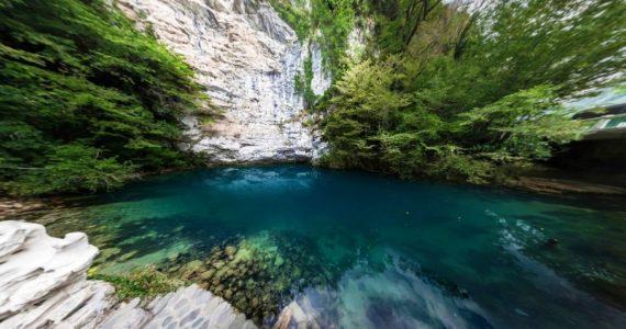 Виртуальная 3D панорама. Голубое озеро (Абхазия)