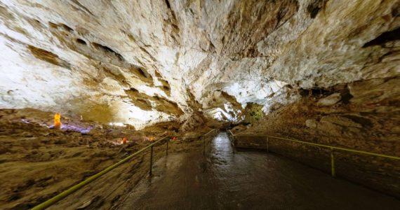Виртуальная 3D панорама. Зал «Апхярца». Новоафонская пещера