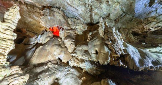 Виртуальная 3D панорама. Зал «Аюхаа». Новоафонская пещера