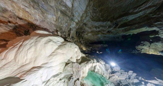 Виртуальная 3D панорама. Зал Спелеологов. Новоафонская пещера