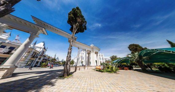 Виртуальная 3D панорама. Набережная Махаджиров (Сухум, Абхазия)