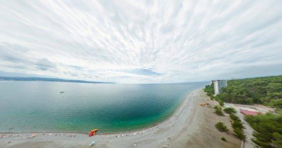 Виртуальная 3D панорама. Набережная Пицунды (Абхазия)