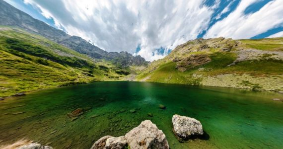 Виртуальная 3D панорама. Озеро Мзы (Абхазия)