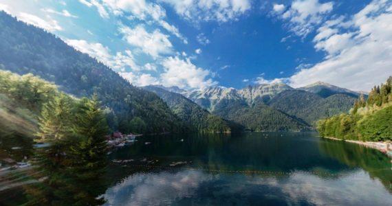 Виртуальная 3D панорама. Озеро Рица (Абхазия)