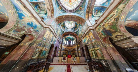 Виртуальная 3D панорама. Пантелеймоновский собор. Новый Афон