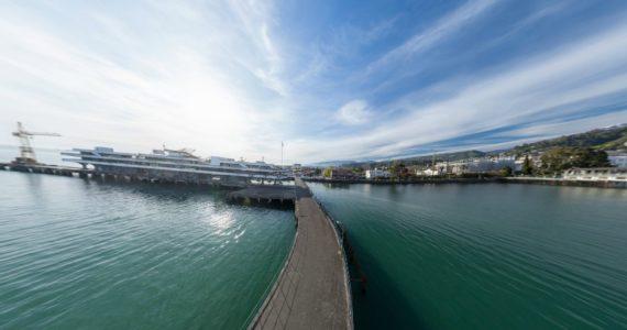 Виртуальная 3D панорама. Сухумский порт. Пристань (Абхазия)