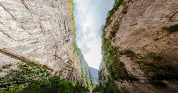 Виртуальная 3D панорама. Юпсарский каньон (Абхазия)
