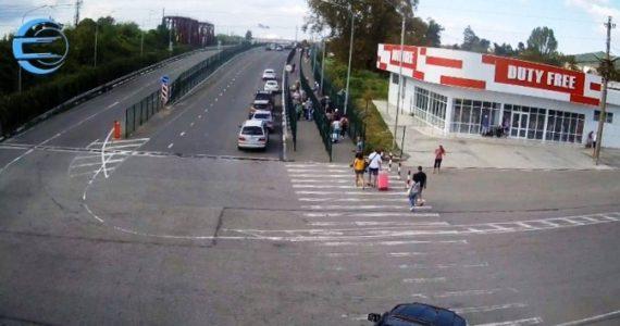 Вебкамера на границе Абхазия - Россия. Выезд из Абхазии