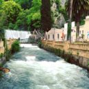 Новоафонский водопад и озеро Псырцха (Абхазия)