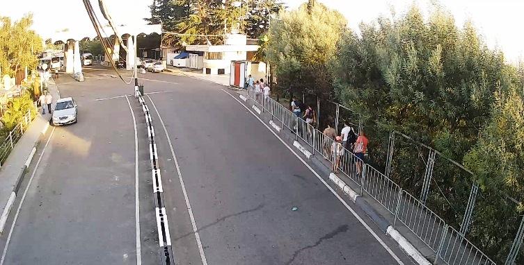 Вебкамера МАПП «Адлер» пешеходный переход в сторону Абхазии