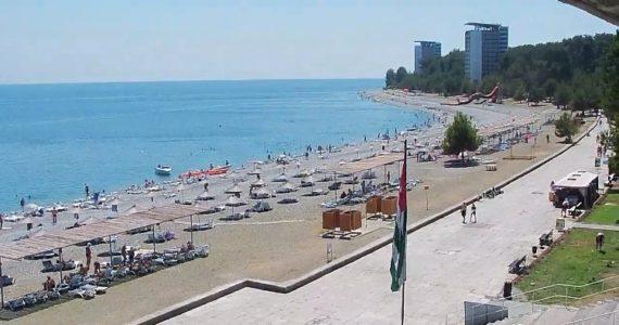Вебкамера Пицунда Центральный городской пляж
