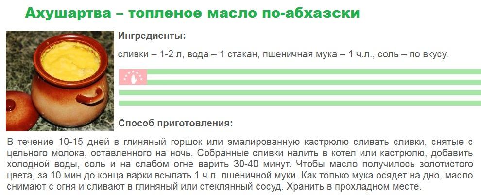 Ахушартва – топленое масло по-абхазски