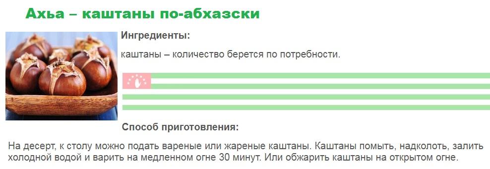 Ахьа – каштаныпо-абхазски