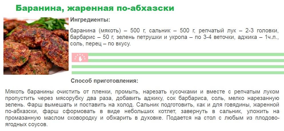 Баранина, жаренная по-абхазски