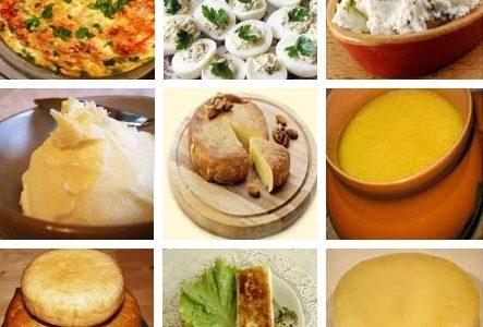 Блюда по-абхазски из яиц, сыра и молока