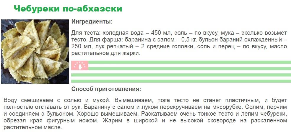 Чебуреки по-абхазски