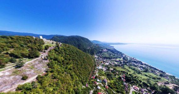 Виртуальная 3D панорама - Анакопийская гора и крепость Анакопия (Абхазия)