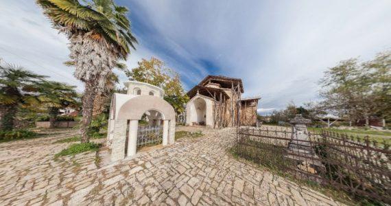Виртуальная 3D панорама — храм в Лыхны и окрестности (Абхазия)