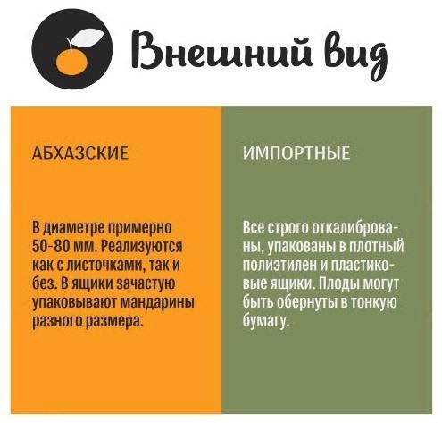 Как распознать абхазский мандарин по внешнему виду?