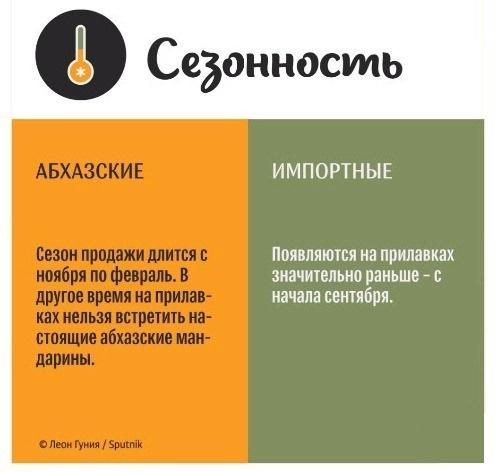 В какое время года можно купить именно абхазский мандарин?