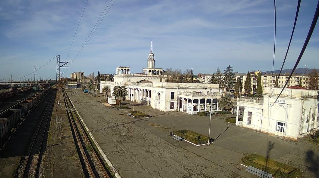 Вебкамера Сухумский жд-вокзал (Абхазия)